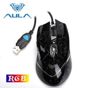 Image 2 - Aula Gaming Muis Usb Bedrade Rgb Ergonomisch Dpi 5000 Verstelbare Voor Laptop Desktop Pc Computer Accessoires Gamer Mouse # SI9010