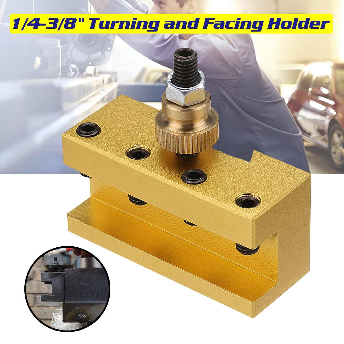 1/4-3/8 Inch 20x25x50mm Lathe Quick Change Tool Post Turning Facing Holder Milling Cut Tool Holder For CCMT TCMT Nilling Insert