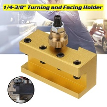 1/4-3/8 Inch 20x25x50mm Lathe Quick Change Tool Post Turning Facing Holder Milling Cut Tool Holder For CCMT TCMT Nilling Insert mayitr 9pcs 3 8 boring bar 5pcs quick change tool post holder 5pcs 3 8 turning tool holder with wooden box