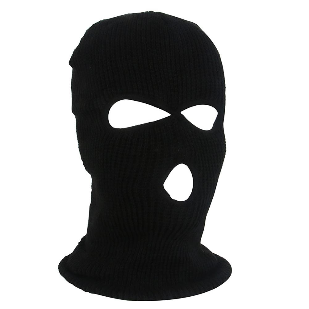 Army Tactical Winter Warm Ski Cycling 3 Hole Balaclava Hood Cap Full Face Mask Outdoor Hiking Warm Face Mask