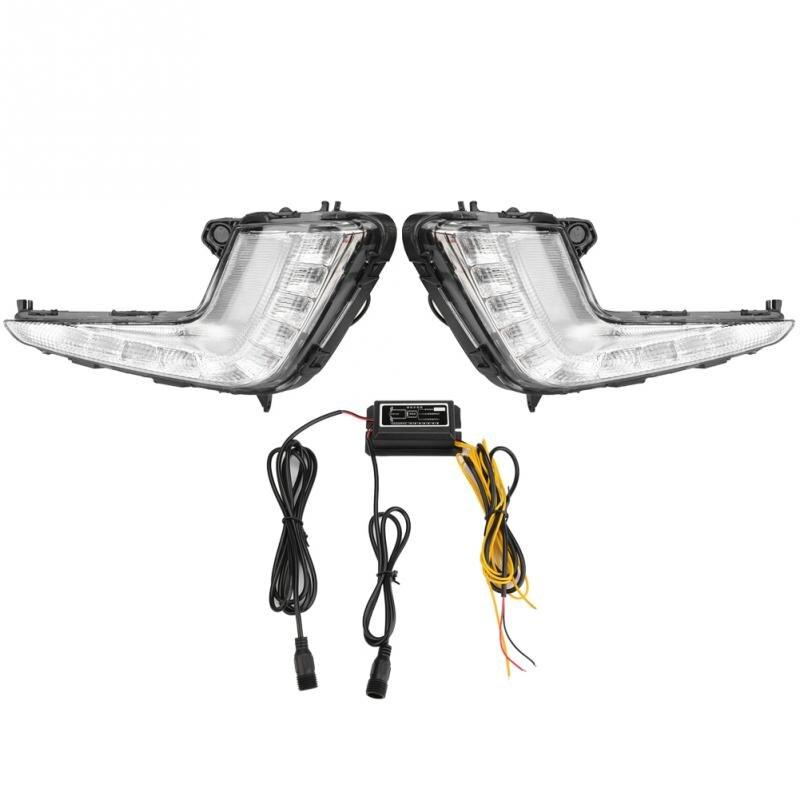 1 Pair 12V 0 5W Car Daytime Running Light Turn Signal 2 Color DRL LED Fog