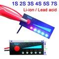 1S 2S 3S 4S 5S 7S 8S 10S 12V 12V 24V Blei säure Lithium Batterie Kapazität Anzeige Display 3 7 V 4 2 V Power Level 13S Li Ion 36V auf