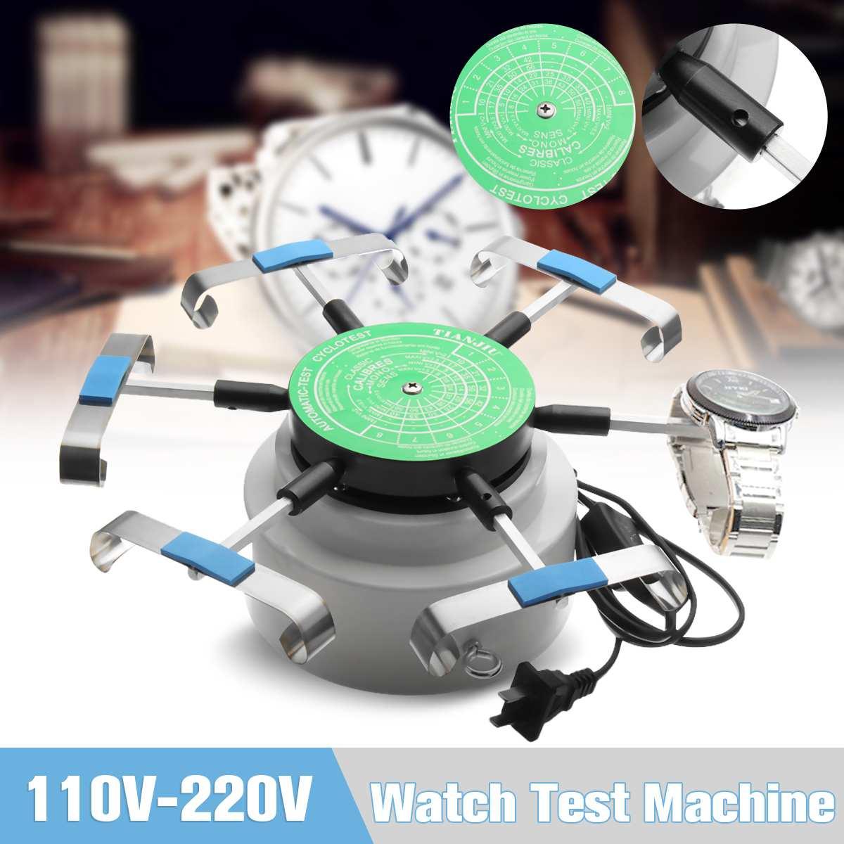 US Standard 110 V 220 V professionnel montre remontoir automico test Cyclotest montres testeur montre Test Machine Six montres Position-in Montre Enrouleurs from Montres    1