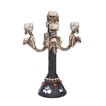 Creative Ghost Candle Holder Ornaments Table Dinner Decoration Tealight Holders Halloween Party Candlestick Decor Crafts Gifts
