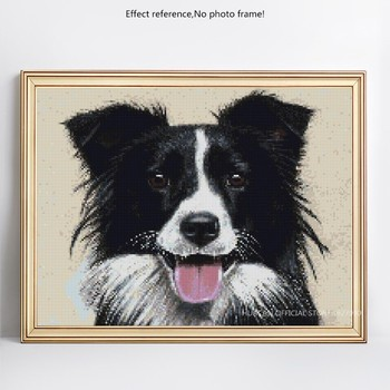 HUACAN 5D DIY Diamond Embroidery Dog Diamond Painting Full Square Mosaic Animal Picture Of Rhinestone