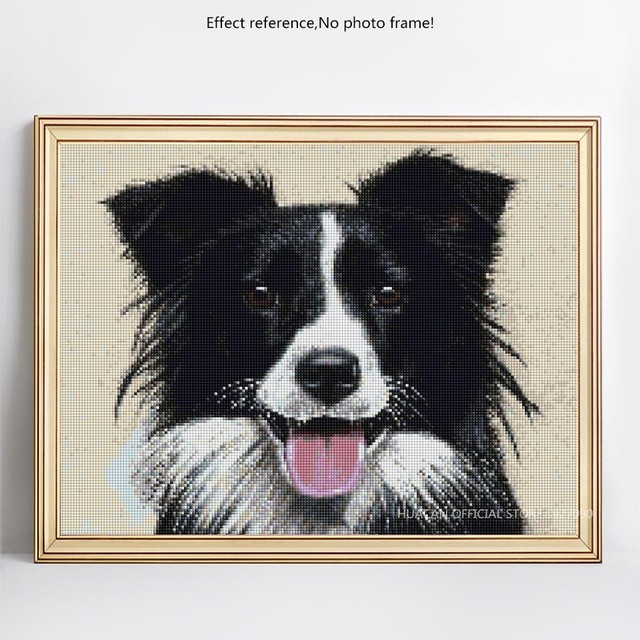 HUACAN 5D DIY Diamond Embroidery Dog Diamond Painting Full Square Mosaic Animal Picture Of Rhinestone Home