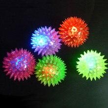 1 шт. мигающий светильник с высоким прыгающим животным, ежом, шипами, шариком, щенком, собаками, подарочные детские игрушки, эластичный Массажный мяч, светящийся