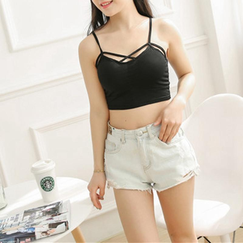 New Women Sexy Casual Black And White   Tank     Top   Women Slim-fit Shoulder Strap Blouse Halter Sleeveless   Tank     Top   Hot Sale