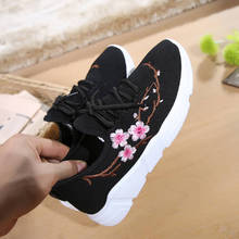 Embroider Casual Flat Lace-up Ladies Shoes  Fashion Breathable Pointed-Toe Slip On Flats Women Shoes ladies high quality china blue chinese women slip on luxury brand shoes bow foldable pointed toe flats european fashion drop
