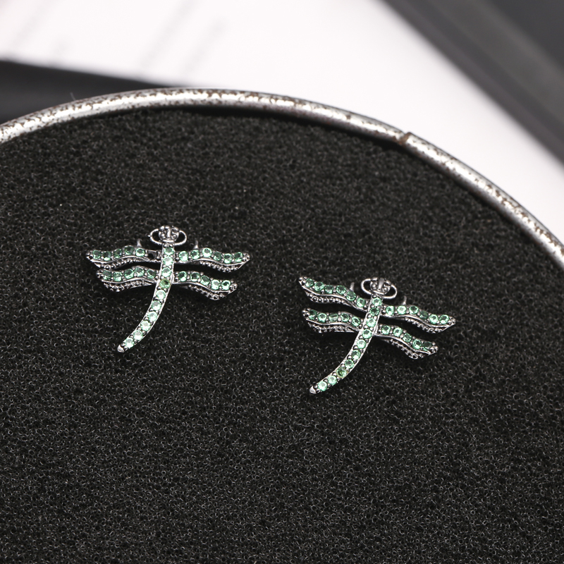 925 Sterling Silver Dragonfly Stud Earrings For Women Gift Hypoallergenic Sterling silver jewelry Restoring ancient ways in Stud Earrings from Jewelry Accessories