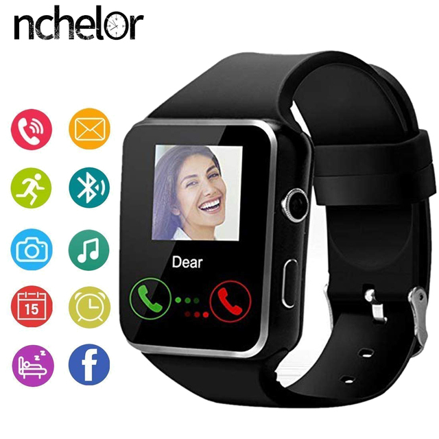 X6 Bluetooth Smart Watch With Camera Support SIM TF Card Touch Screen Alarm Cloc