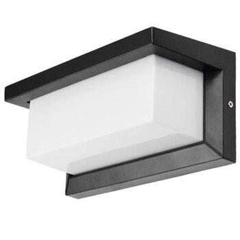 18W LED Lampu Dinding Tahan Air Ip66 Pintu Lampu LED Modern Dinding Lampu Radar Sensor Gerak Halaman Taman Kolam Cahaya ac85 ~ 26