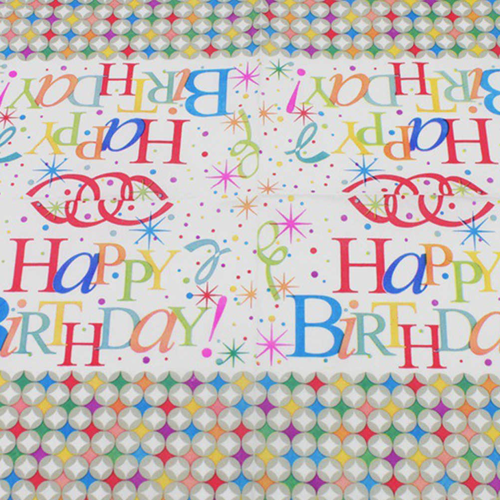 20 sztuk wszystkiego najlepszego z okazji urodzin na serwetki kolacja kolorowe z nadrukiem lunchowym tektura ręcznik papierowy tkanki dla dorosłych dzieci