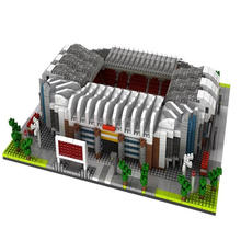 hot LegoINGlys creators city Street view England Manchester United football Stadiums Old Trafford micro building block toys gift