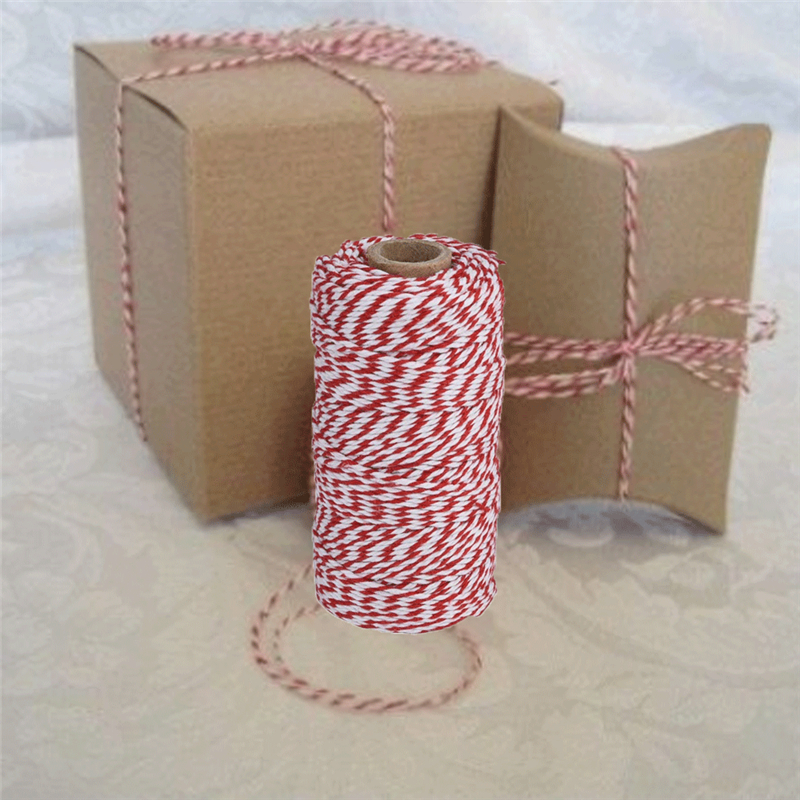 1 Roll 100m//328ft Cotton Bakers Twine String Cord Glass Bottle Gift Packing Rope