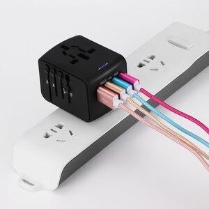 Image 4 - Универсальный адаптер зарядного устройства FORNORM для путешествий, адаптер с 4 USB разъемами по всему миру, электрическая розетка, вилка стандарта США, Великобритании, ЕС, Австралии для путешествий