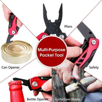13 In 1 Multi-function Folding Knife Stainless Steel Outdoor Survival Camping Kitchen Multi tool Pliers Saw Screwdriver Cutter 4