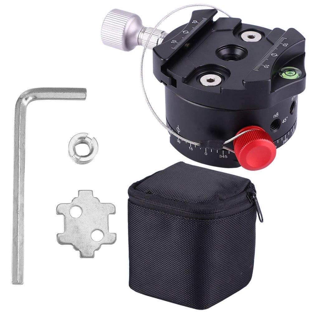 Eerlijkheid Dh-60 360 Graden Panoramisch 4 Stopt Klik Indexering Rotator Ball Head Voor Camera Statief 2019 Official