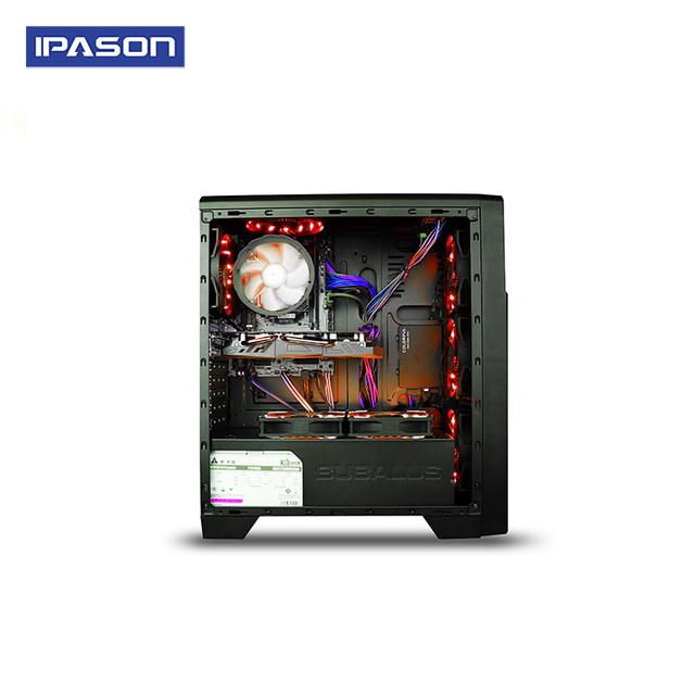 IPASON A5 Gaming PC AMD Ryzen5 2400G DDR4 4G 8G RAM 120G+1T SSD/gaming card 1050TI Desktop Computer
