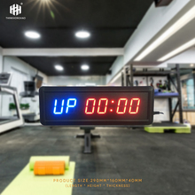 купить free shipping 1.5 GYM Crossfit Timer LED Interval Timer Training Time And Rest Time Alternate CountdownCount up As A Stopwatch дешево