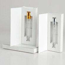 100 шт 10 мл портативный многоразового флакон для духов с подарочные бумажные коробки DHL