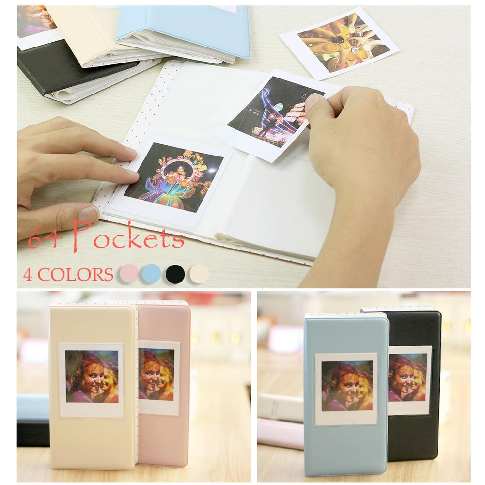 For FujiFilm Instax Square SQ10 Camera SP 3 Printer Film Photos Paper 64 Pockets Photo Book Album Storage Pink Black Yellow Blue in Photo Albums from Home Garden