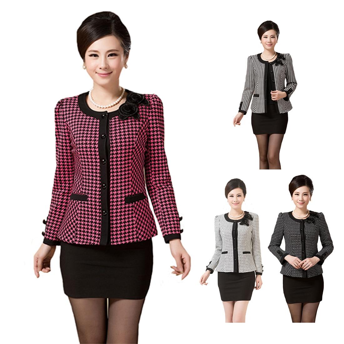 Fashion Ladies Casual Long Women Size 4 Elegant New Short Sleeve Breasted 5xl 3 1 Coat Slim Jacket 2 Single Plus dRY6Rq7c
