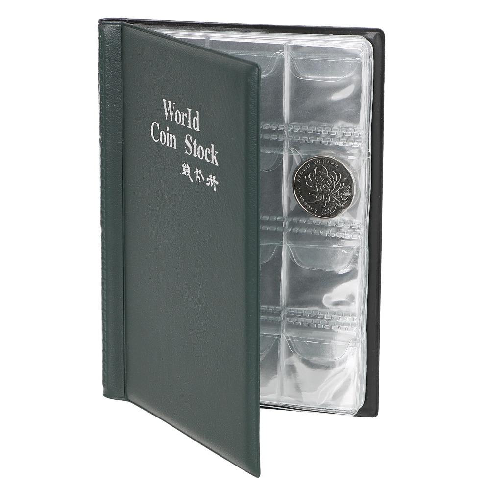 Органайзер для сбора денег, 120 карманов, коллекция монет, альбом, книга для коллекционера, держатель для монет, альбомы, Мини Пенни, сумка для хранения монет