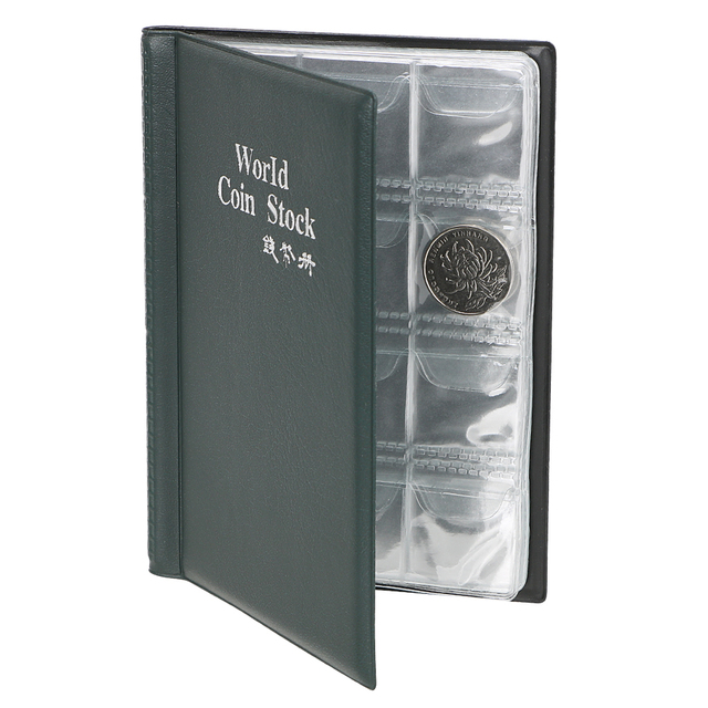 La raccolta di Denaro Organizzatore 120 Tasche Monete Collezione di Album Libro per il Collettore Della Moneta Titolare Album Mini Penny Coin Sacchetto di Immagazzinaggio 4