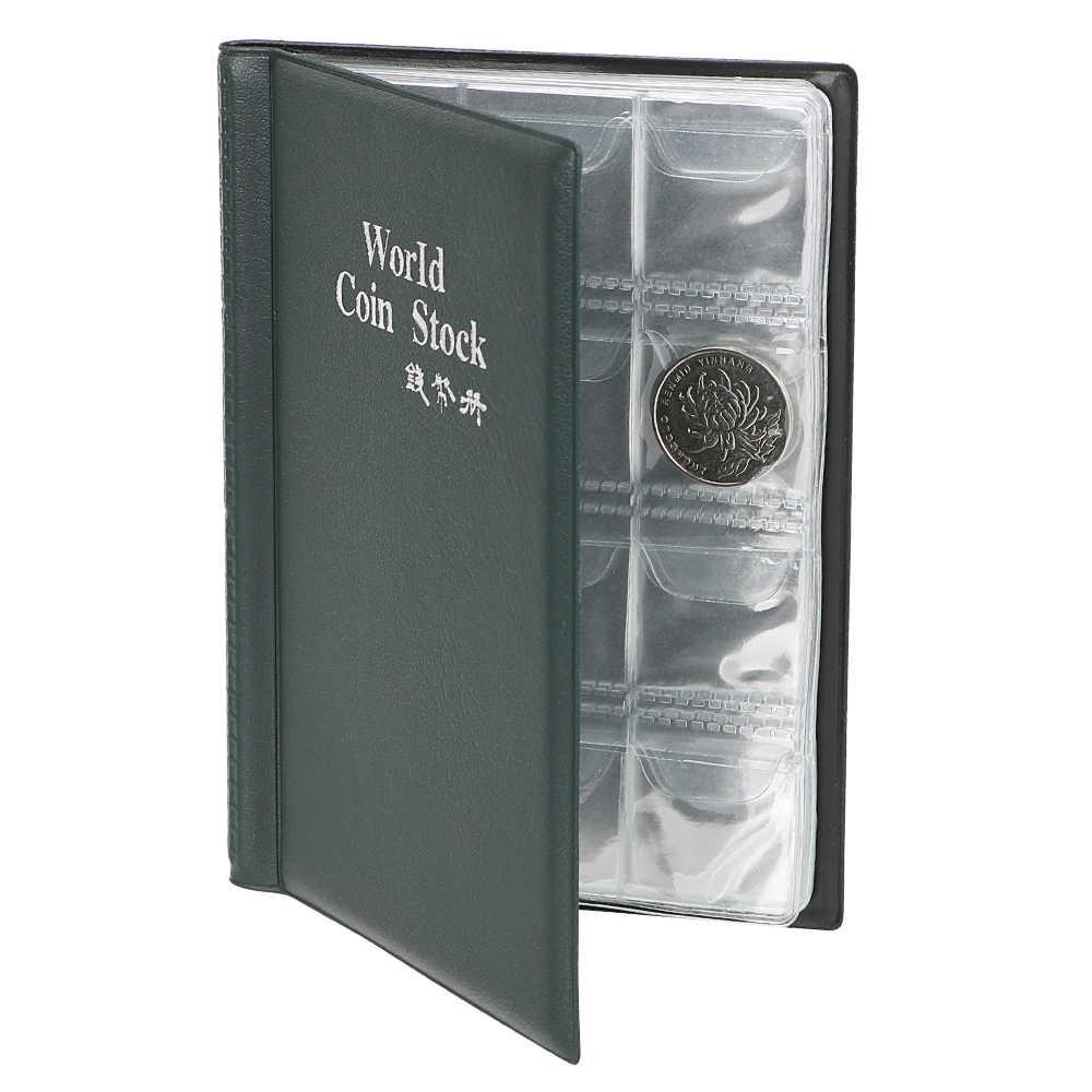 איסוף כסף ארגונית 120 כיסי מטבעות אוסף גלרית ספר עבור אספן מטבע מחזיק אלבומים מיני אגורה מטבע אחסון תיק