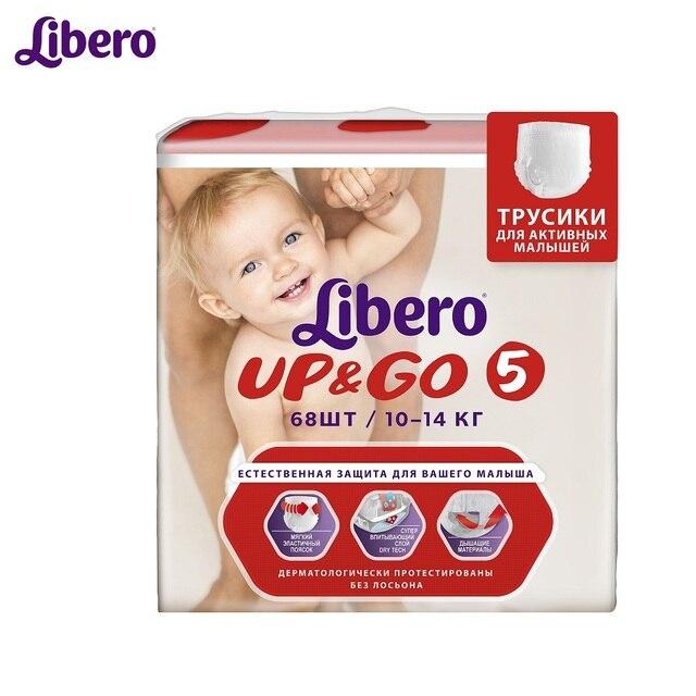 Трусики-подгузники Libero Up&Go гига макси плюс (10-14 кг) 68 шт.