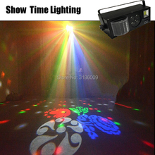SHOW TIME New arrival LED 4 in 1 Gobo laser strobe stage effect color eyes image light Professional for Home entertainment KTV