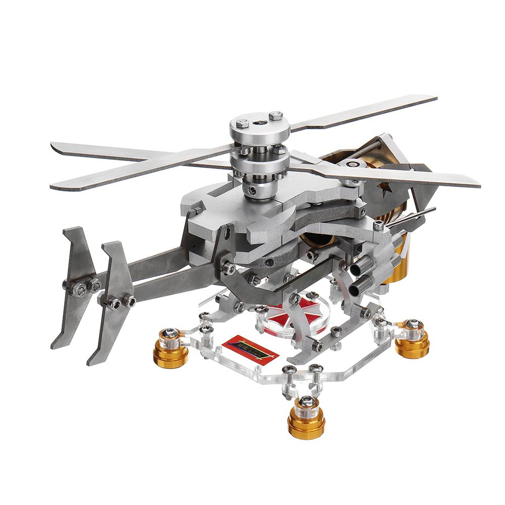 Mise à niveau Moteur Stirling Modèle Militaire Hélicoptère Conception Modèle Science Métal Moteur Stirling Matériel Scolaire d'éducation Fournir