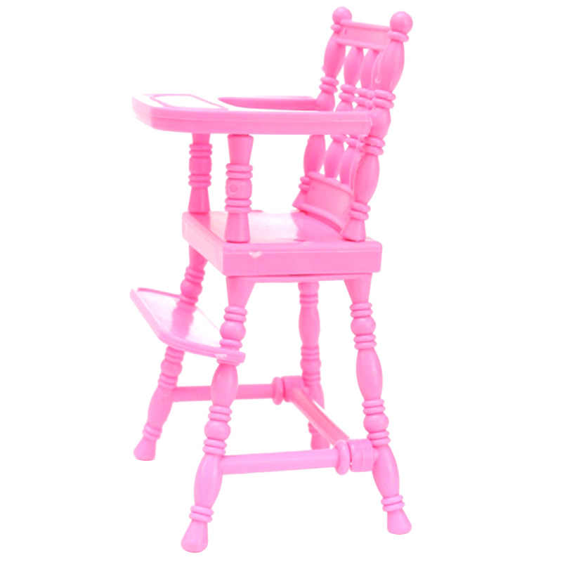 Baby Doll High Chair Toy Pink Child Dining Chair Toy Baby Girls
