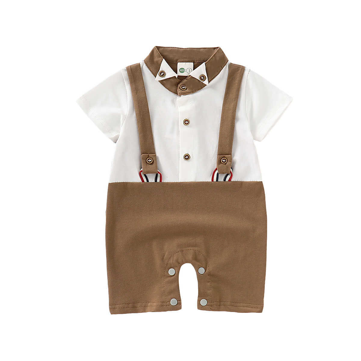 Baby Boy Baptism Outfit Casual Party Romper Suspender Shorts Christening Costume
