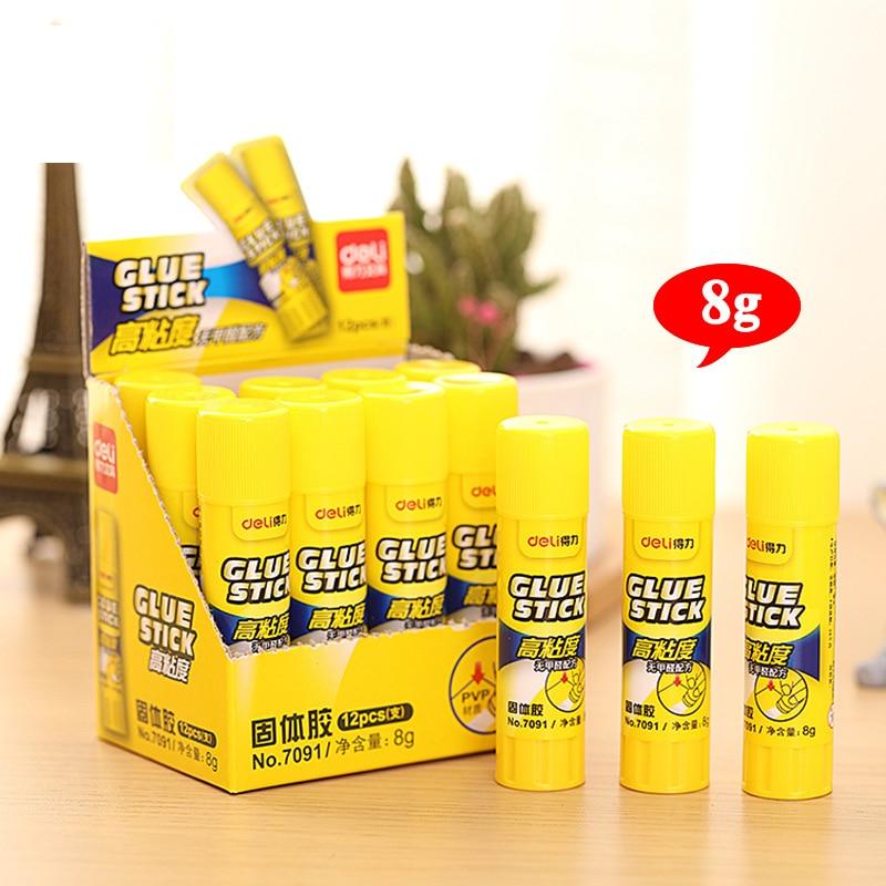 8g Glue Stick PVP High Viscosity Glue Art Painting Office School Supply Korean Stationery Plastic Soild Gule Pegamento Escolar