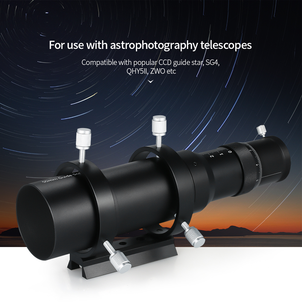 Instruments and Apparatuses 50mm Guide Scope Finderscope for Astronomical Telescope 200mm Focal Length F4 Focal Ratio