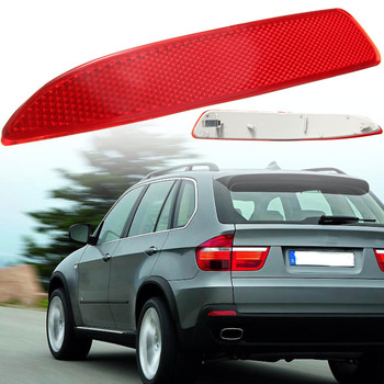 1pc Left/Right Side Car Rear Bumper Reflector Red Lens For BMW X5 E70 2007-2013 63217158949 63217158950 image