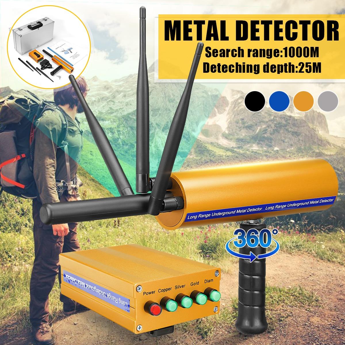 AKS Détective Professtional Souterrain Poignée 3D Pro Métal/Or/Gems Détecteur Réglable Longue Portée Diamant Finder Tracker