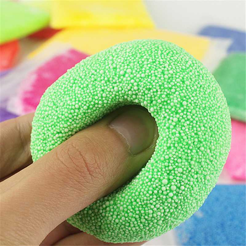 50g 12Color Snow Mud Fluffy Floam Scented Stress Relief Pearl Mud Slimes Kids Claying For Children Arts Crafts Colorful Bubble