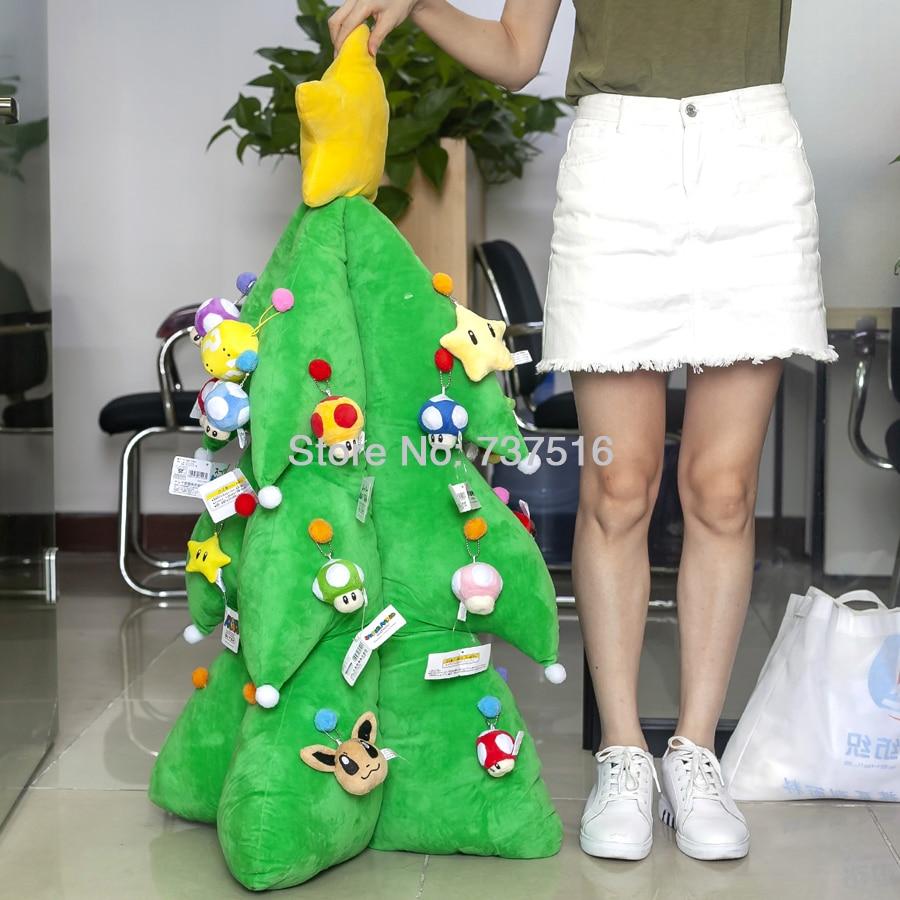 Super Mario Bros фаршированные гриб жаба Starmen желтая звезда светодио дный музыка светодиодное освещение 12 и дюймов 43 дюймов Рождественская елка пл