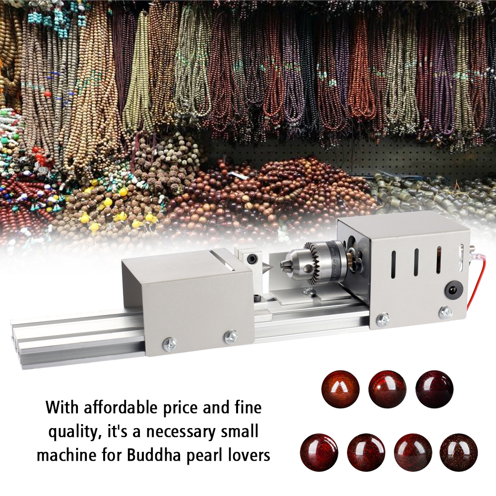US Plug 96W Mini Lathe Beads Machine Torno Madera Woodwork DIY Lathe Standard Set with Power