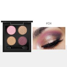 Shimmer 2 4 Colors 8 Beauty Shadow Palette New 5g Types Black ABS Matte Double-ended Brush x Eye with Makeup