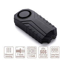 4 In 1 Bicycle Bike Security Lock Alarm Anti-theft Remote Control Waterproof new Sound Detector(China)