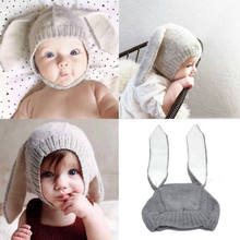 c251efdba5d Cute Bunny Ears Design Hats Baby Boy Girl Warm Beanie Korean Style Adorable  Warm Cap Infant Knitting Winter Hat New