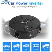 Universal Car Inverter DC 12V 24V to AC 220V Converter USB Charger 150W High Power Automobile Power Inverter Auto Accessaries