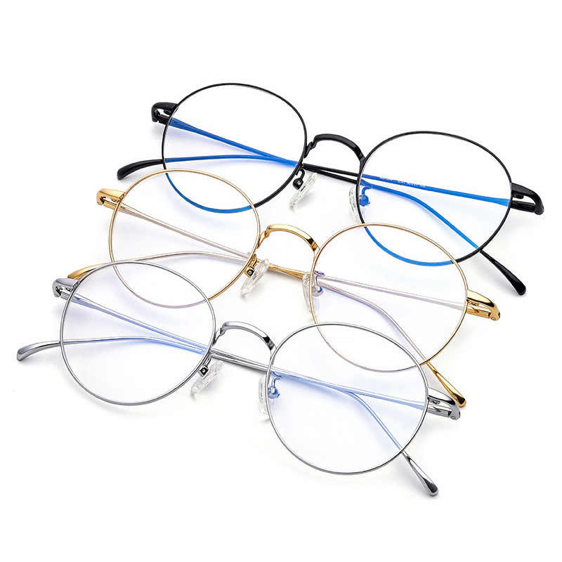6f5c791da4a6 ... Ebay Shopify Drop Shop Pure Titanium Spectacle Round Eye Glasses Frames  For Men Oculos De Grau ...