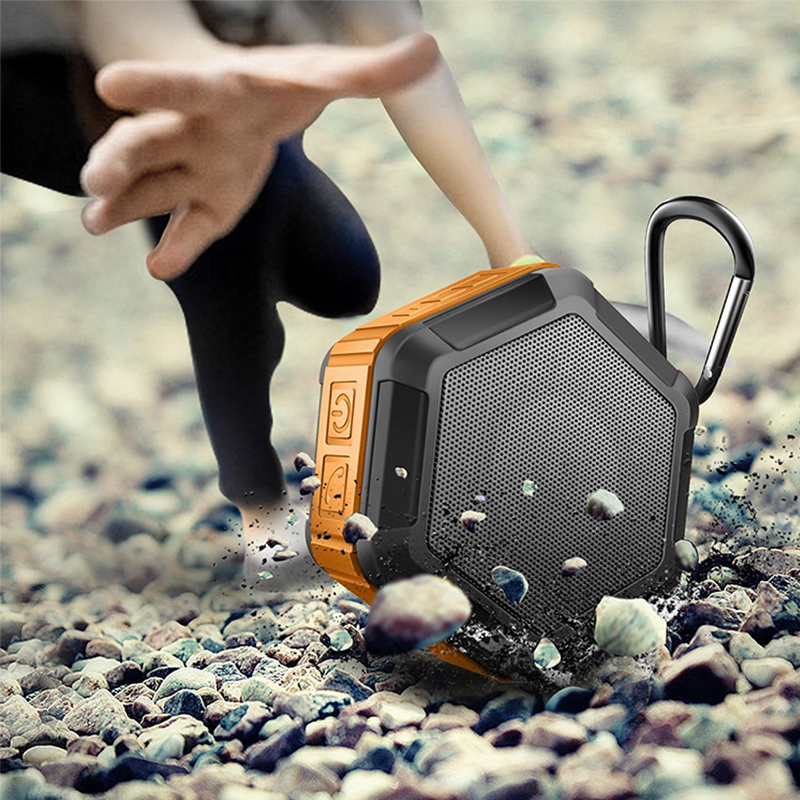 Outdoor Portable Bluetooth Speaker Mini Hexagonal Wireless 4 2 EDR Speaker Waterproof Dirtproof Drop Resistant Music Speakers in Portable Speakers from Consumer Electronics