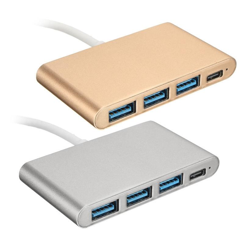 Moyeu OTG Portable 4 ports séparateur USB Type C USB 3.1 adaptateur moyeux USB 3.0 Multiport pour Macbook Air ordinateur Portable PC tablette