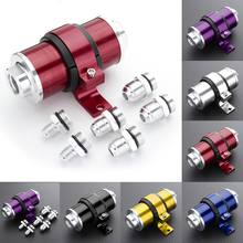 30 Micron Billet High Flow Inline Fuel Oil Petrol Filter + Bracket AN6 AN8 AN10